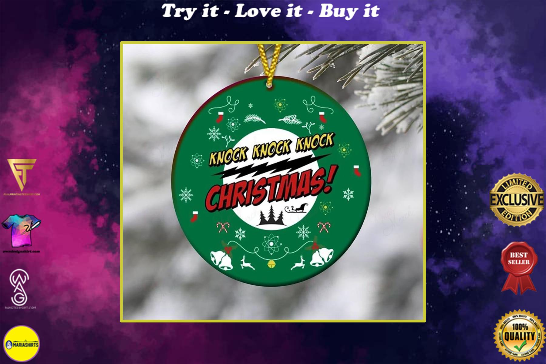 christmas time knock knock knock christmas ornament