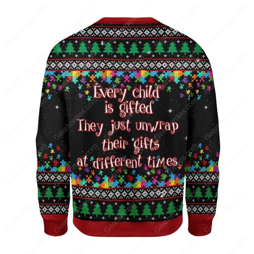 christmas tree autism awareness all over printed ugly christmas sweater 4