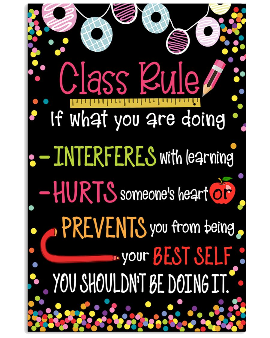 classroom class rule if what you are doing poster 1