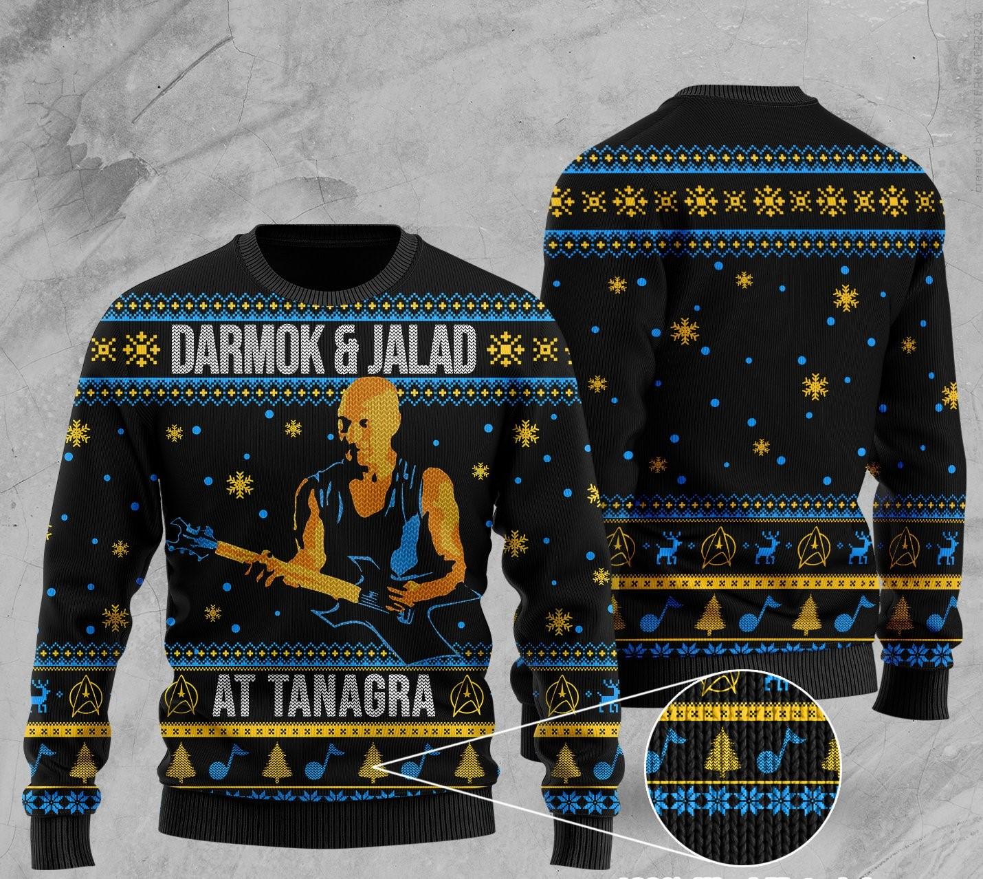 darmok and jalad at tanagra all over printed ugly christmas sweater 1