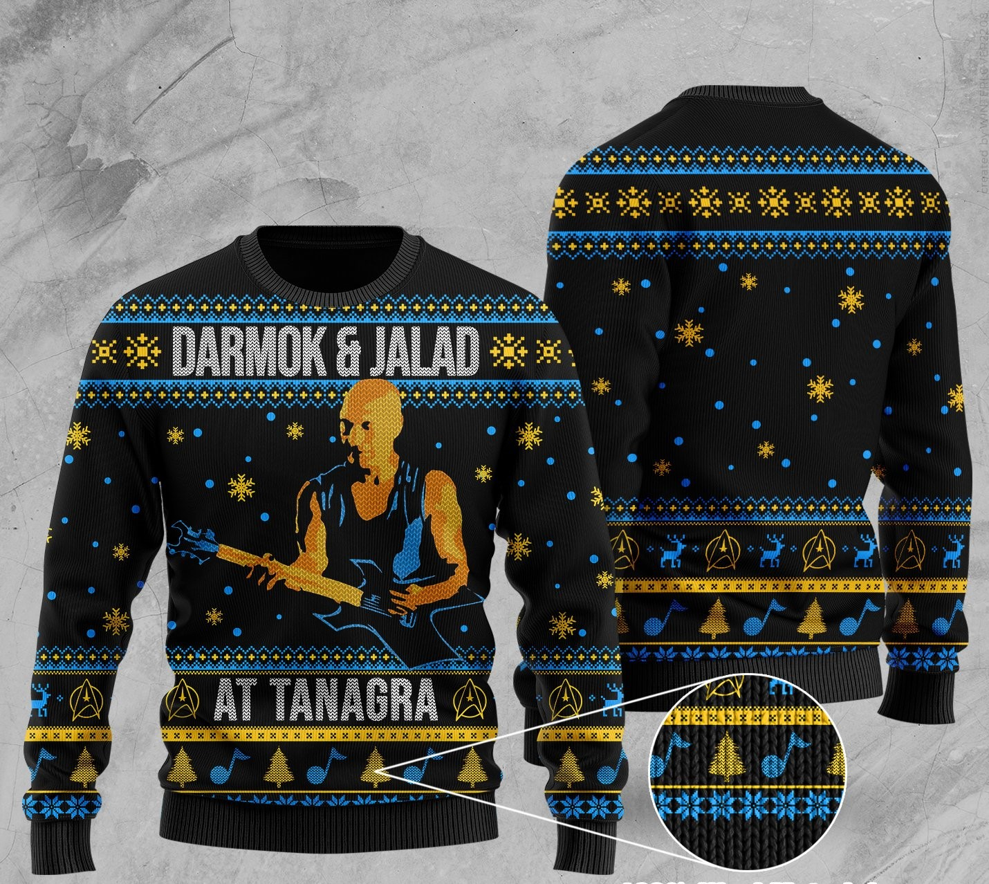 darmok and jalad at tanagra all over printed ugly christmas sweater 2