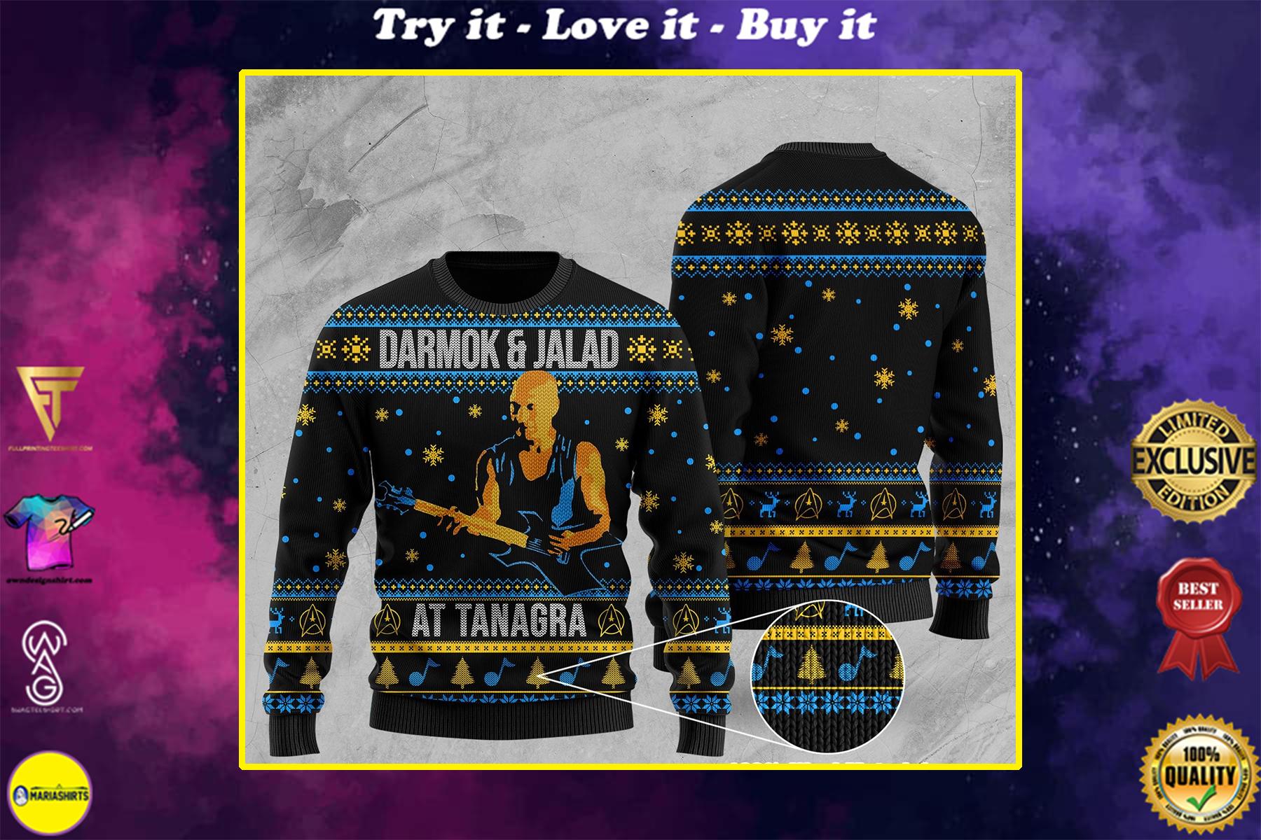 darmok and jalad at tanagra all over printed ugly christmas sweater