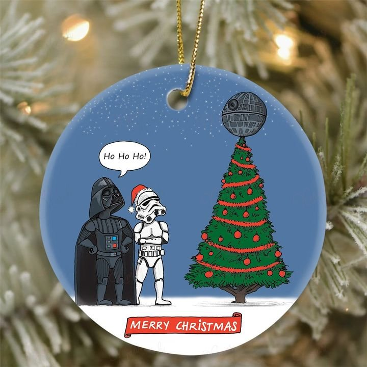darth vader and stormtrooper christmas tree ornament 2
