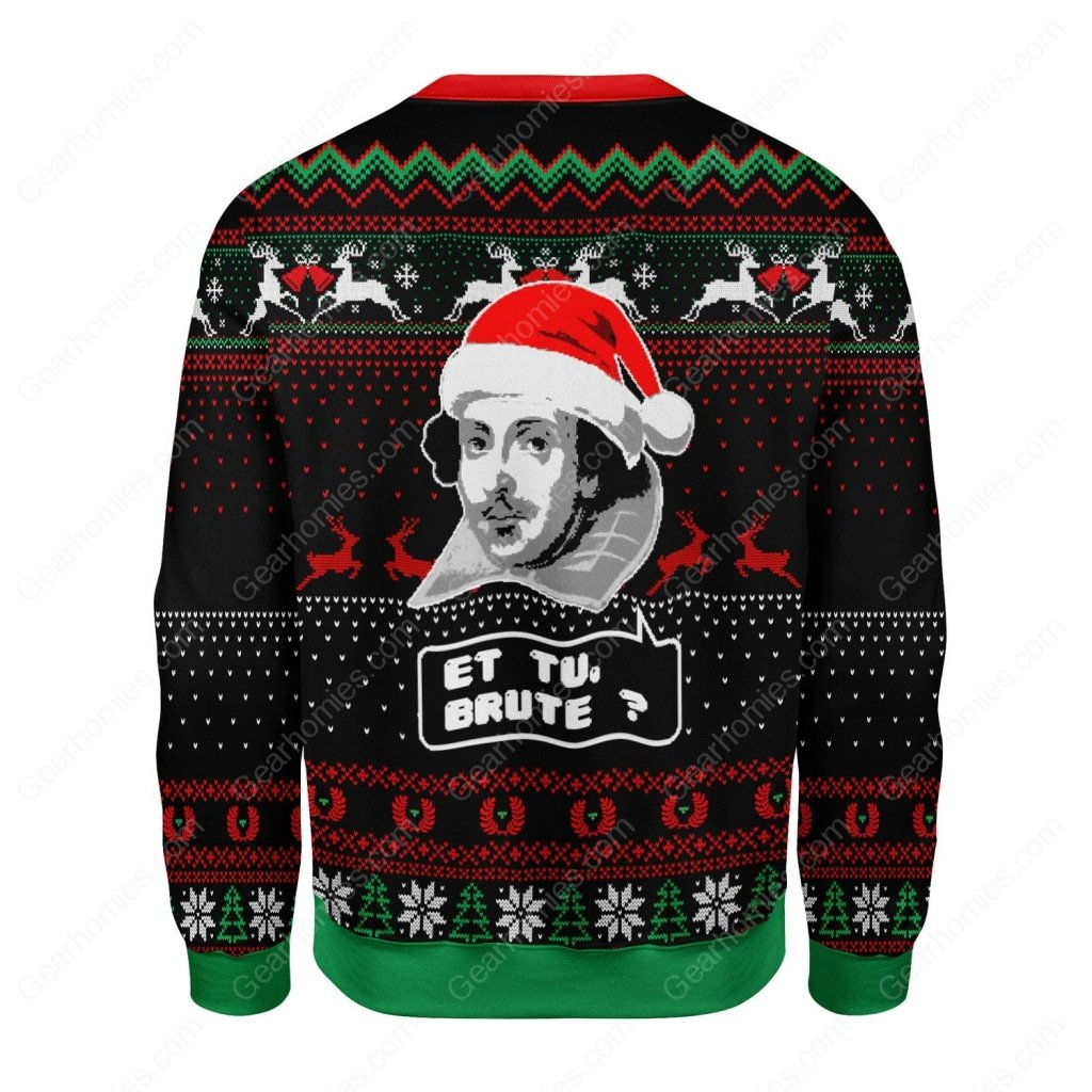 et tu brute all over printed ugly christmas sweater 4
