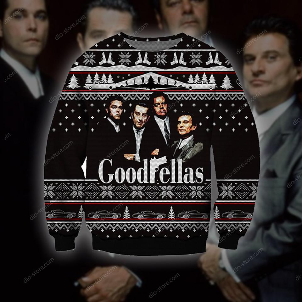 goodfellas all over printed ugly christmas sweater 4