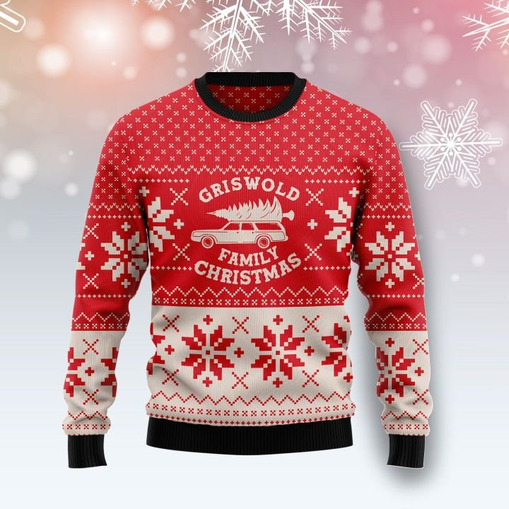 griswold family car all over printed ugly christmas sweater 2