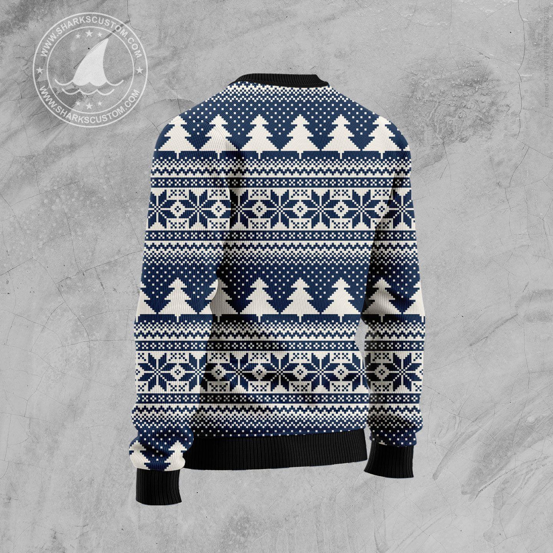 hockey christmas tree all over printed ugly christmas sweater 4