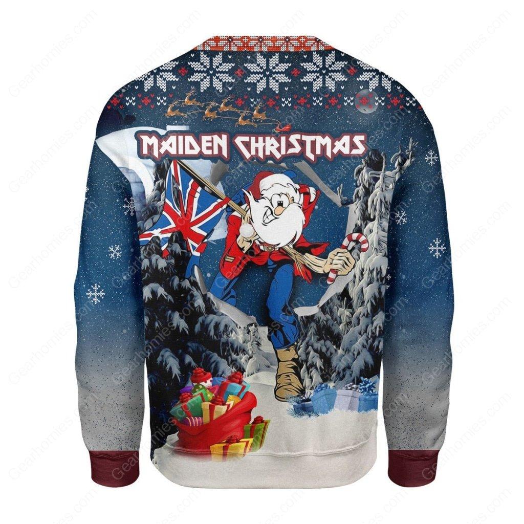 iron maiden christmas all over printed ugly christmas sweater 4