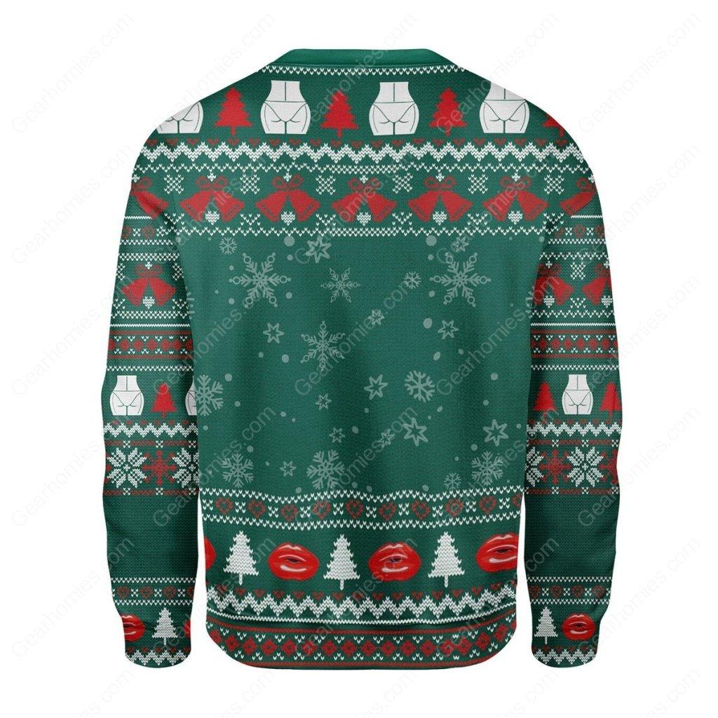 kim kardashian santa claus all over printed ugly christmas sweater 4