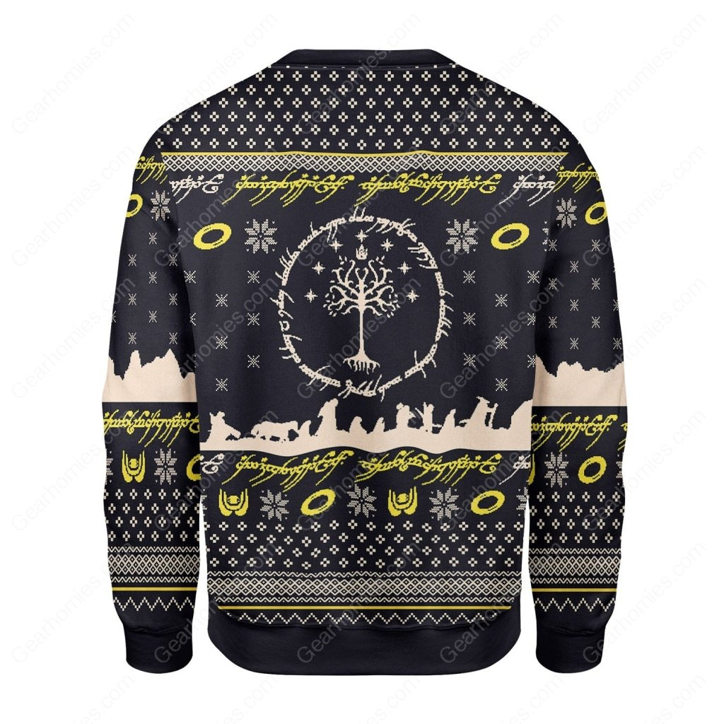 lord of the rings all over printed ugly christmas sweater 4