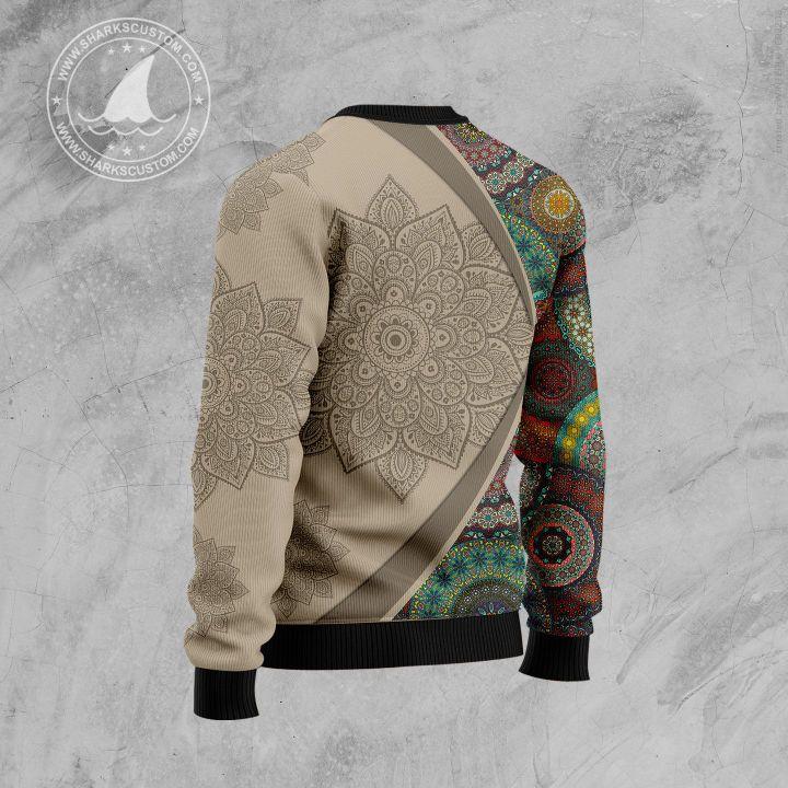 michigan mandala all over printed ugly christmas sweater 4