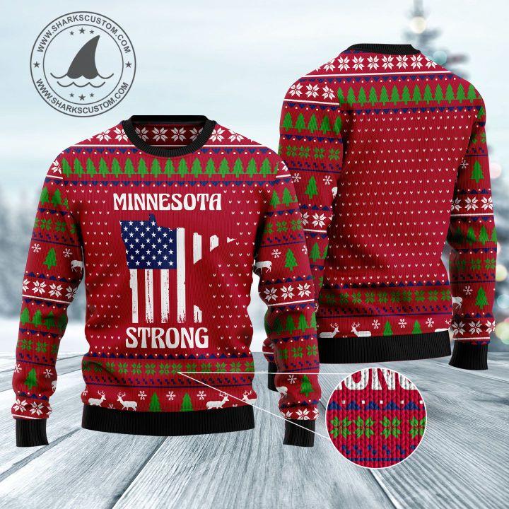 minnesota strong all over printed ugly christmas sweater 1
