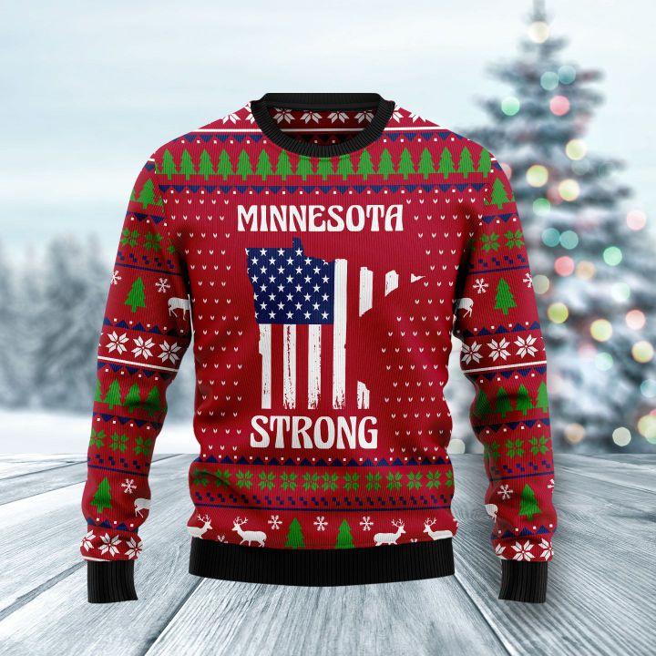 minnesota strong all over printed ugly christmas sweater 2