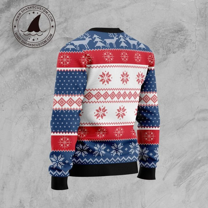 pitter patter lets get at er all over printed ugly christmas sweater 4