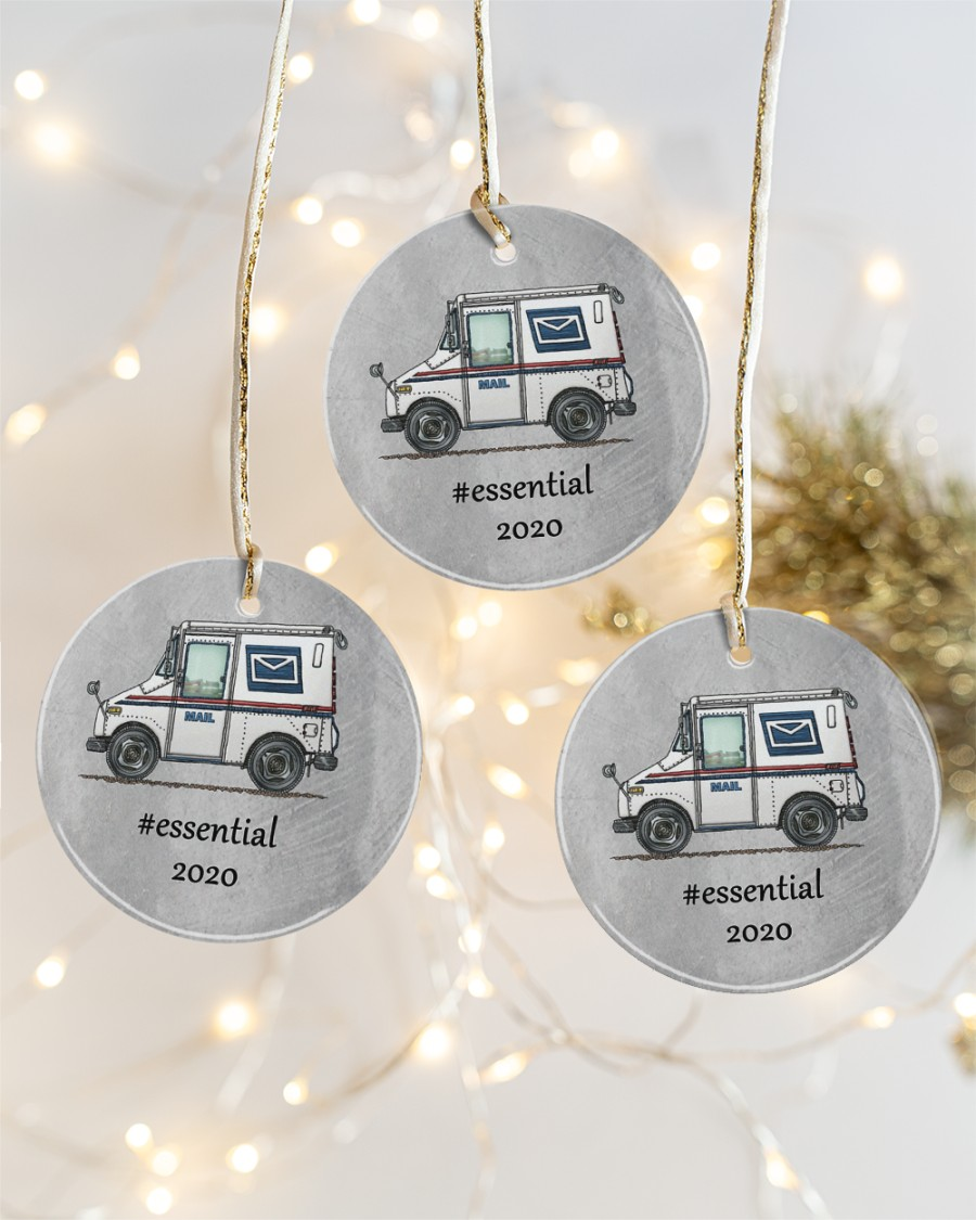 postal worker mail carrier circle christmas ornament 4
