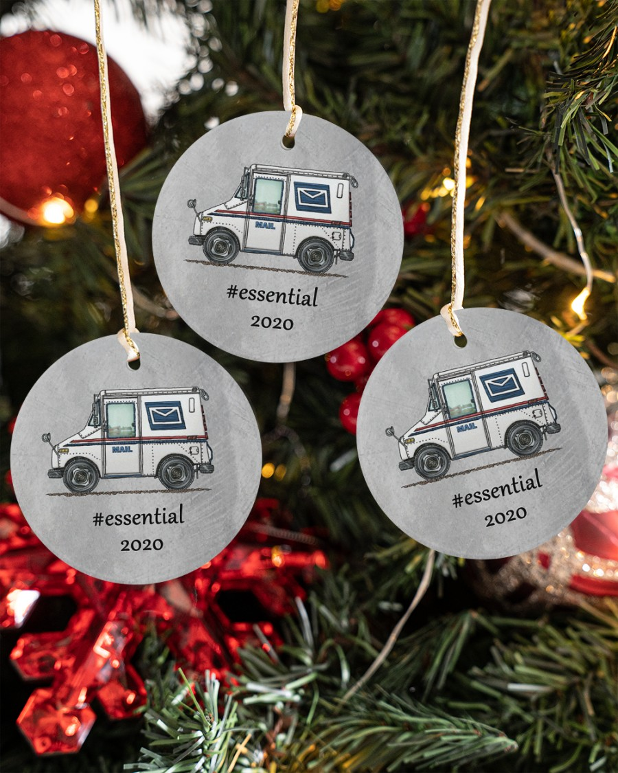 postal worker mail carrier circle christmas ornament 5
