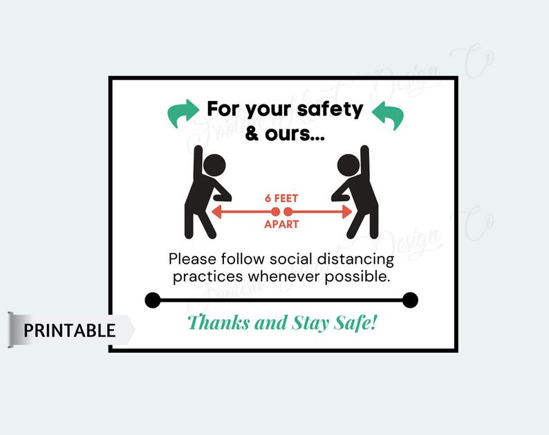 practice social distancing for your safety and ours poster 1