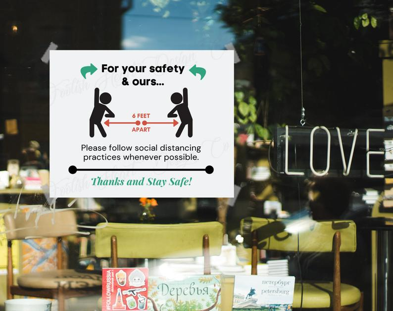 practice social distancing for your safety and ours poster 3