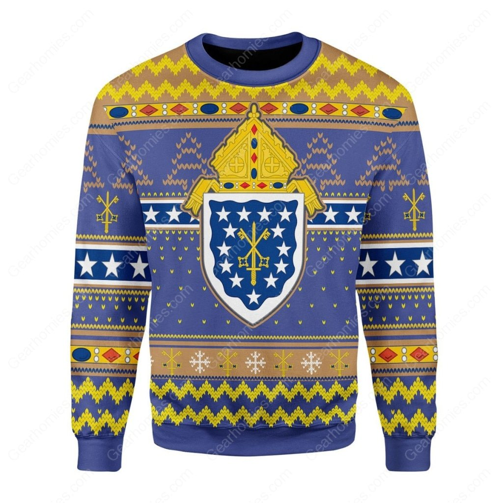 religion in costa rica roman catholic all over printed ugly christmas sweater 3