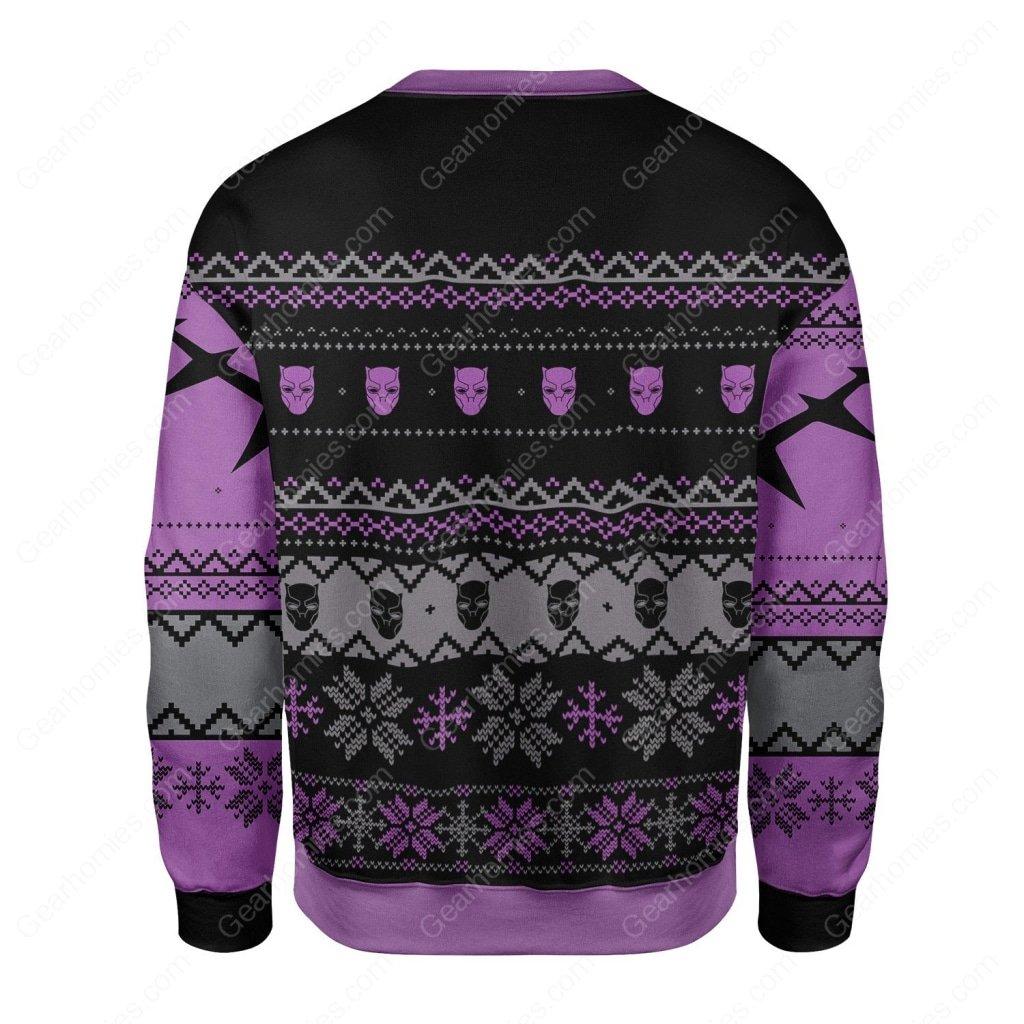 santa black panther wakanda all over printed ugly christmas sweater 4