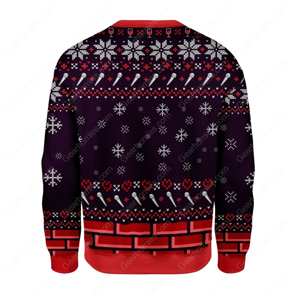 santa claus miley cyrus all over printed ugly christmas sweater 4
