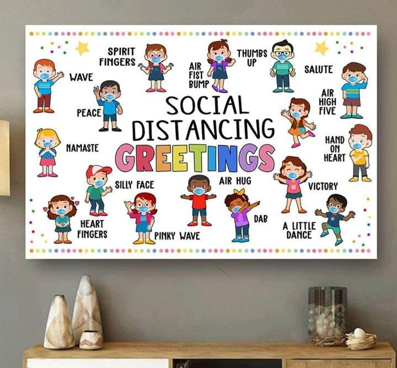 social distancing greetings back to school poster 2