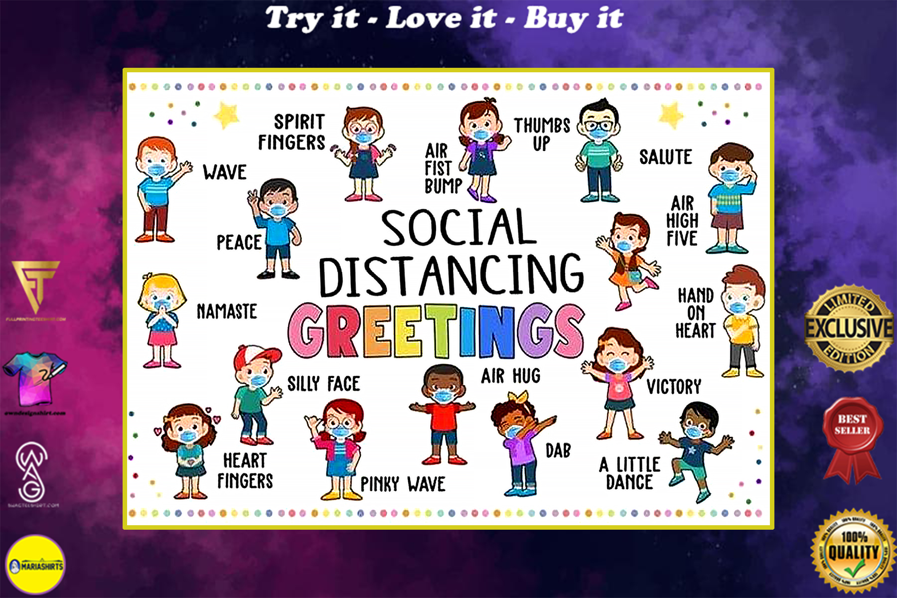 social distancing greetings back to school poster