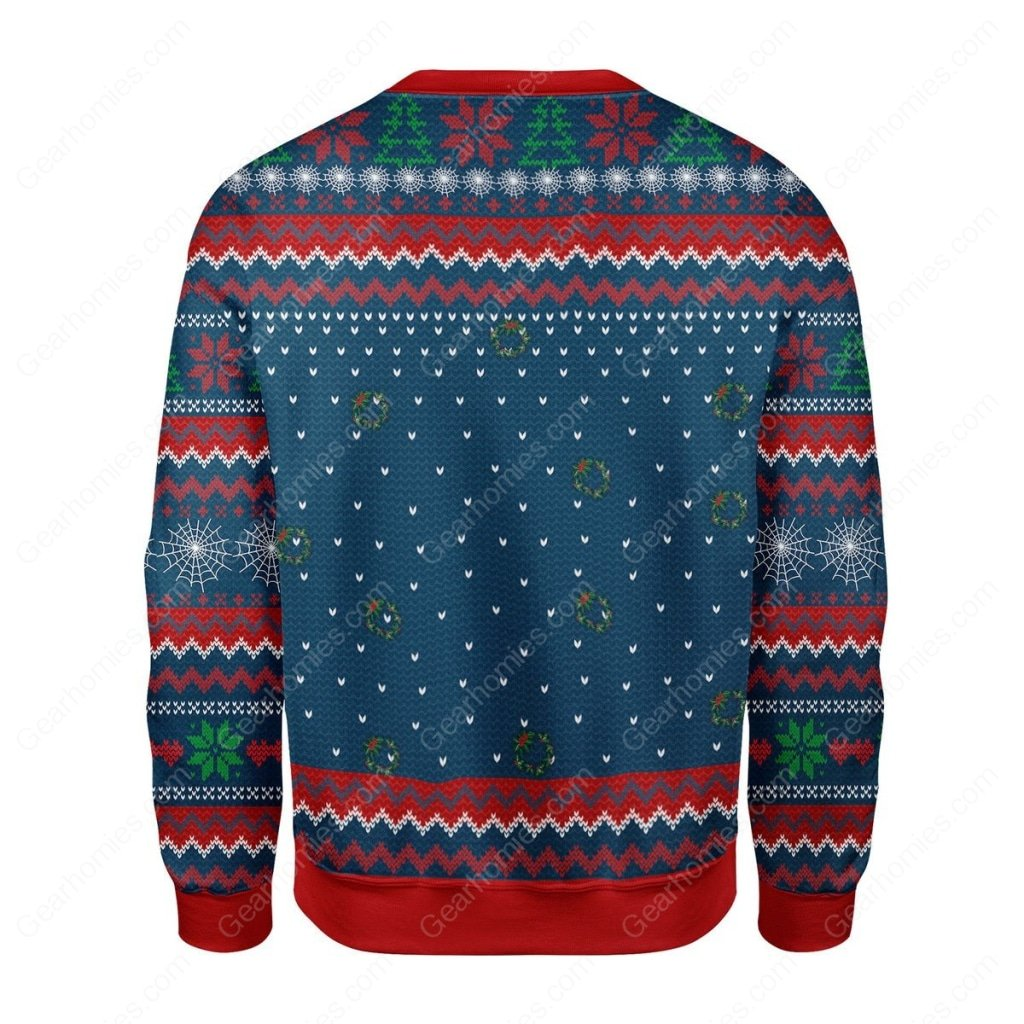 spider-man santa claus all over printed ugly christmas sweater 4