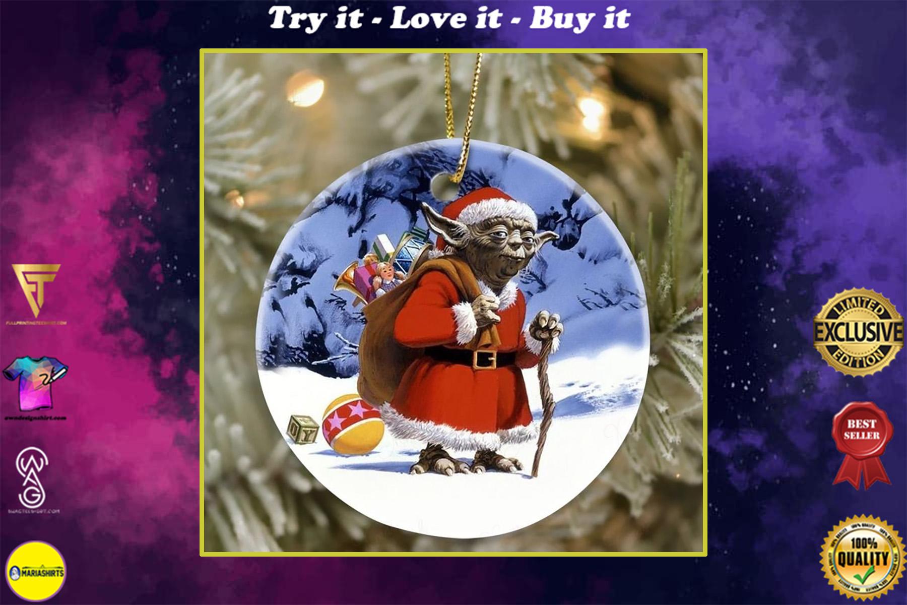 star wars yoda cosplay santa christmas ornament