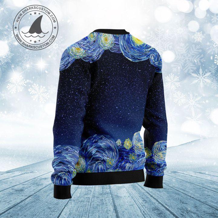starry night vincent van gogh minnesota ugly christmas sweater 4
