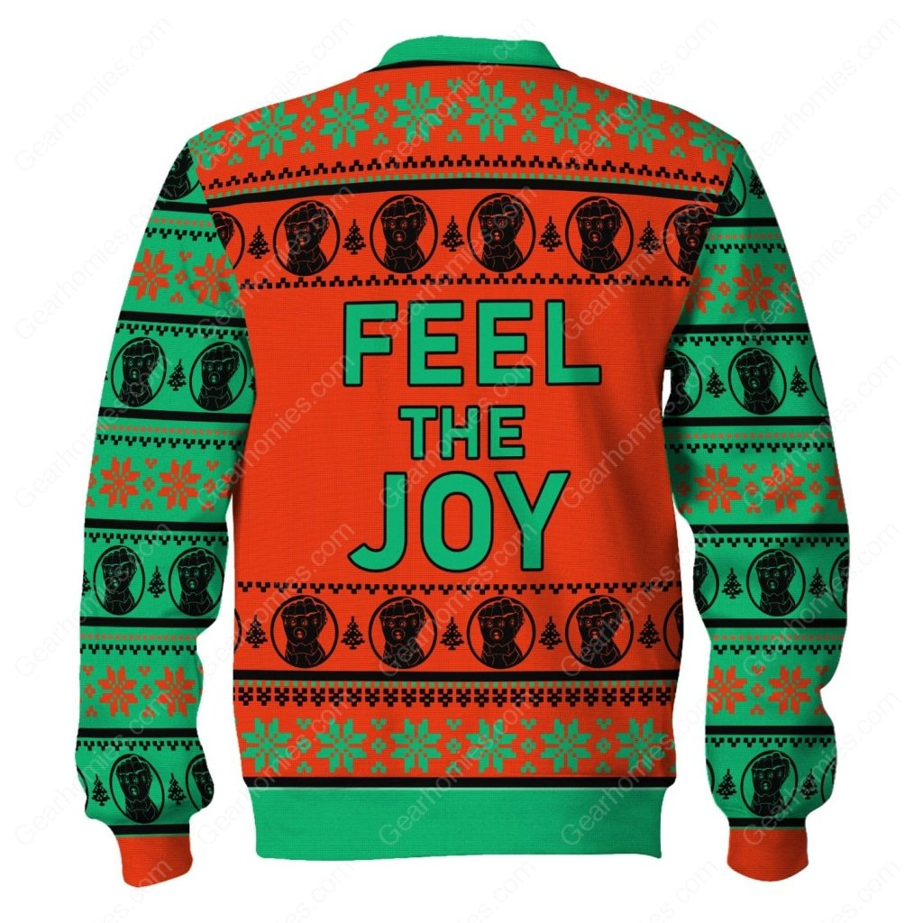thanos feel the joy all over printed ugly christmas sweater 4