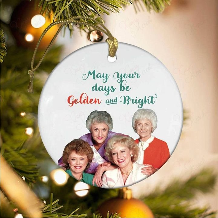 the golden girls may your days be golden and bright christmas ornament 5