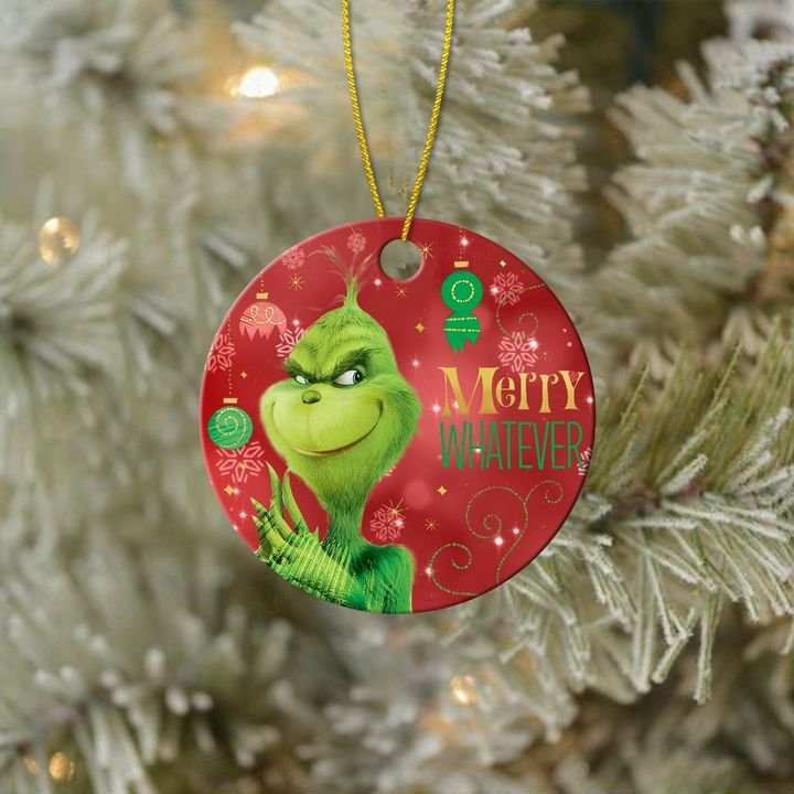 the grinch merry whatever christmas ornament 3