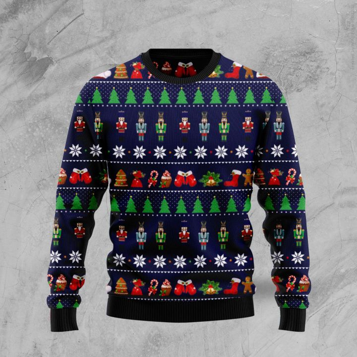 the nutcracker all over printed ugly christmas sweater 3