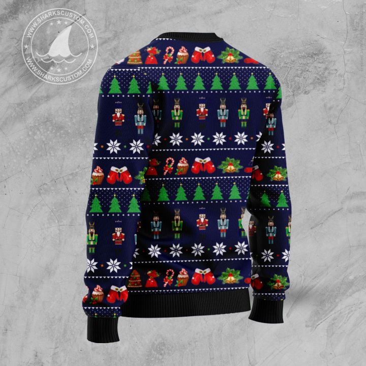 the nutcracker all over printed ugly christmas sweater 4