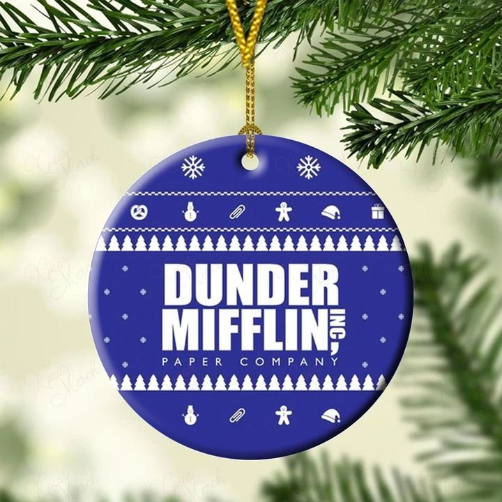 the office dunder mifflin christmas ornament 5