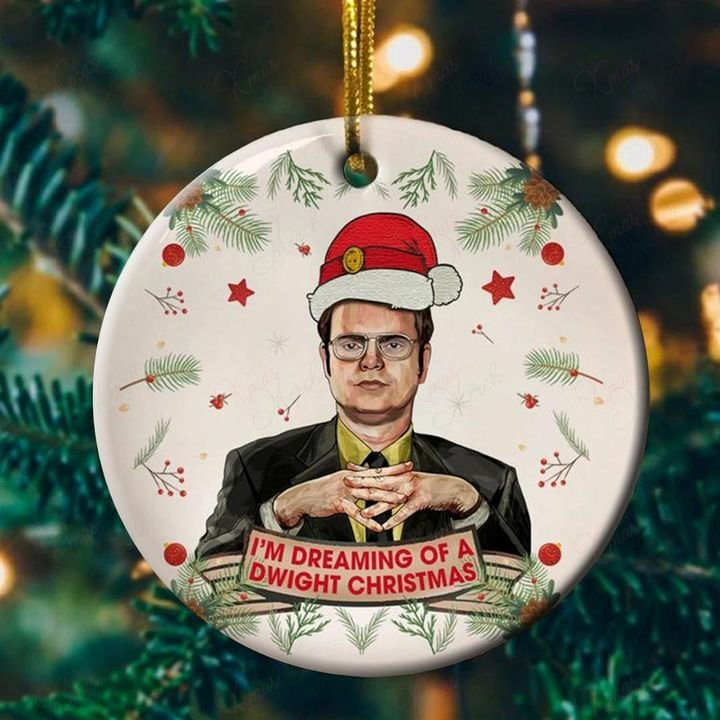 the office dwight schrute im dreaming of a dwight christmas ornament 2