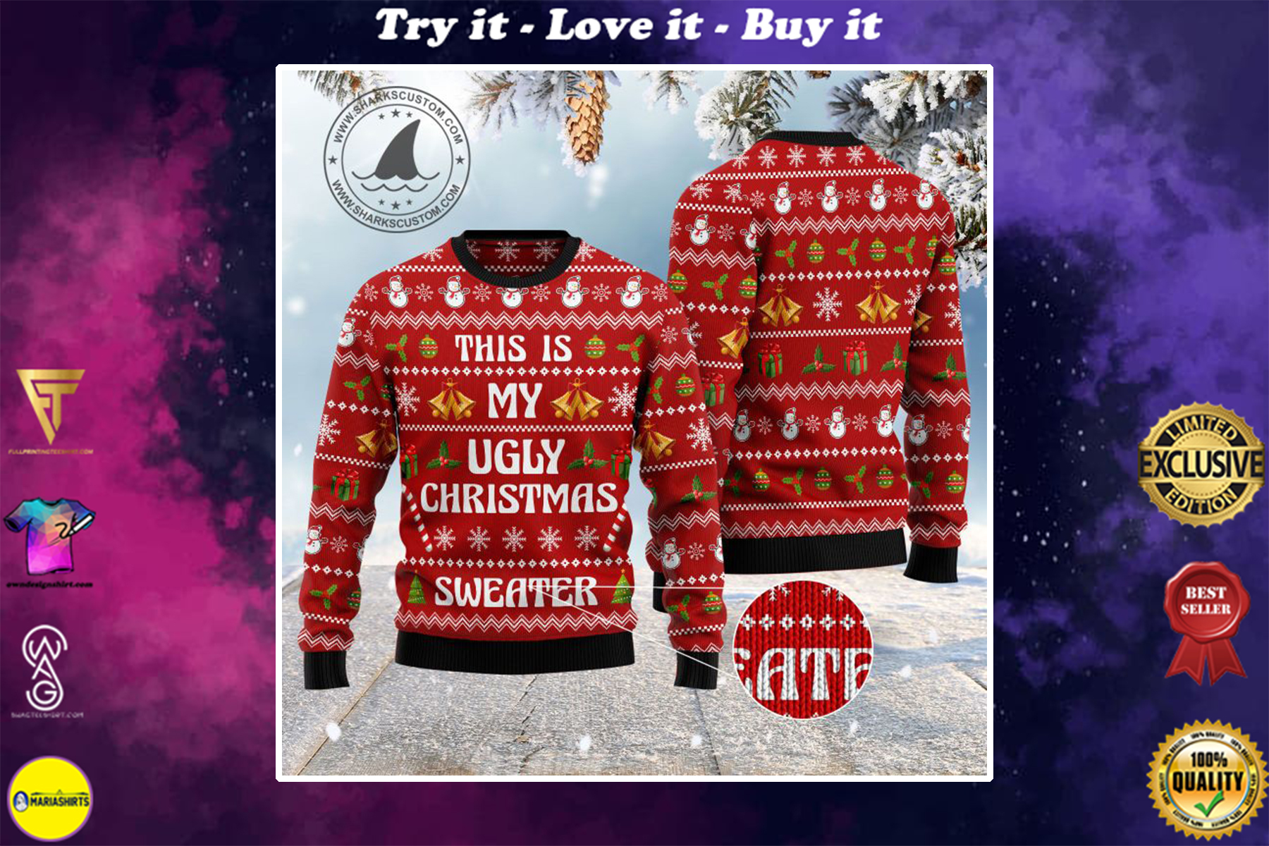 this is my ugly christmas sweater all over printed ugly christmas sweater
