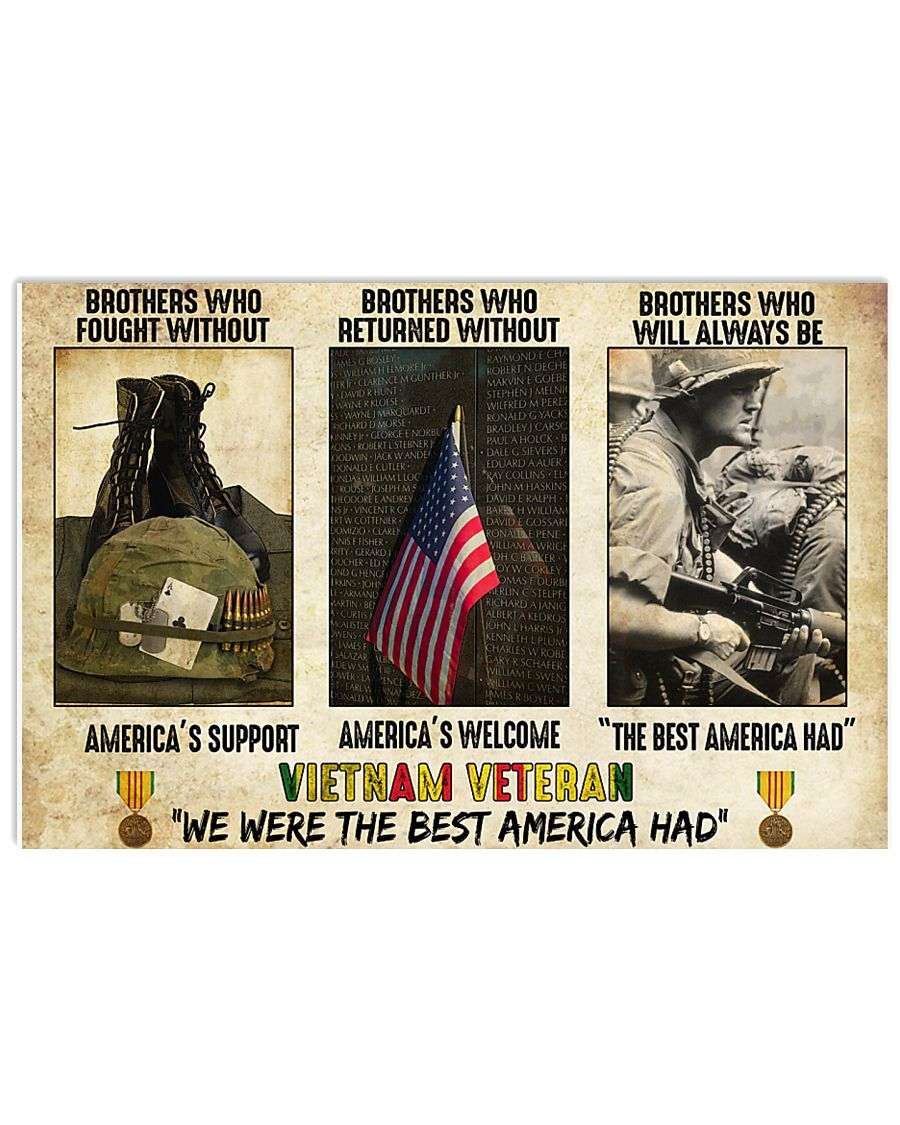 vietnam veteran were the best america had brothers who fought without americas support poster 1