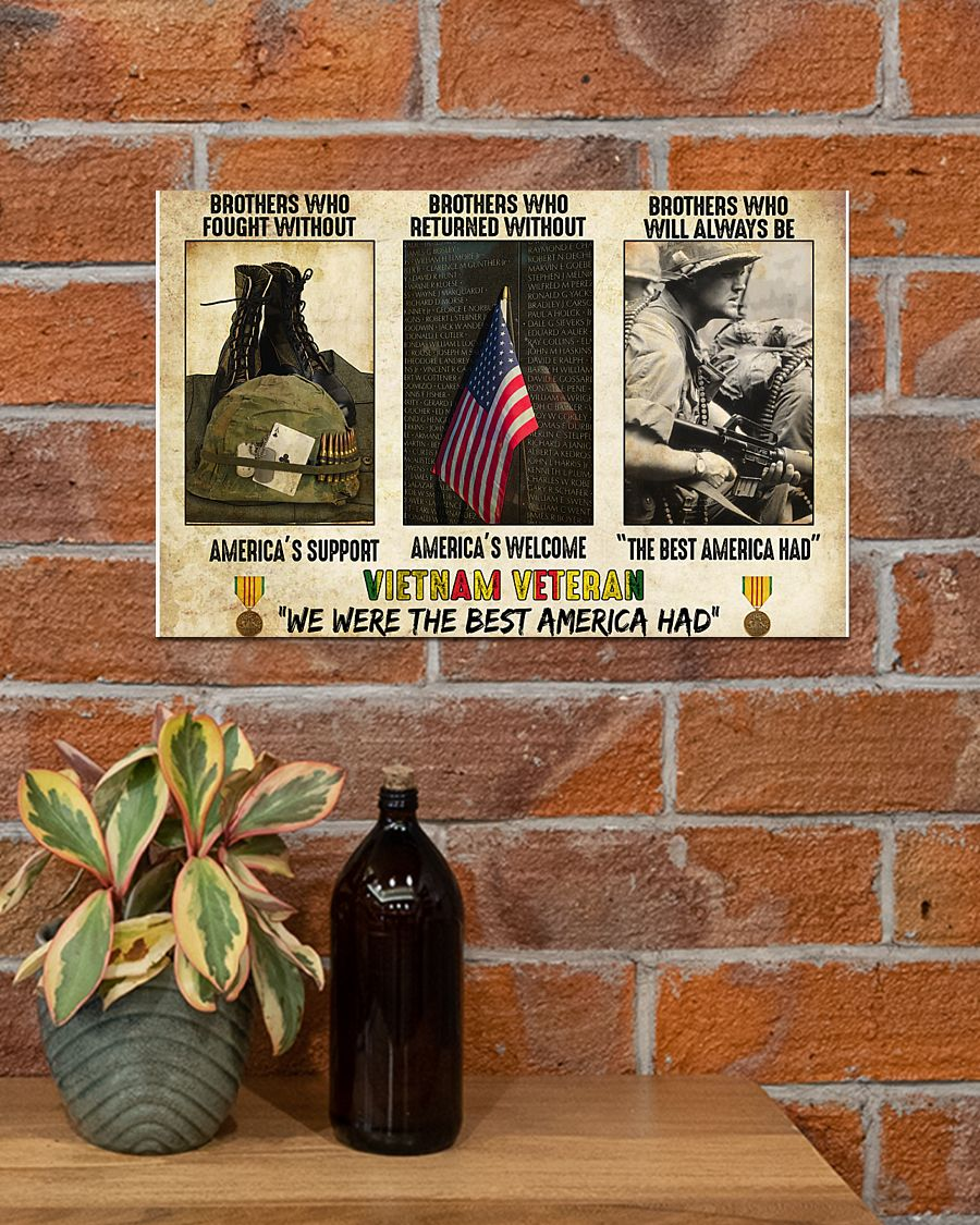 vietnam veteran were the best america had brothers who fought without americas support poster 2