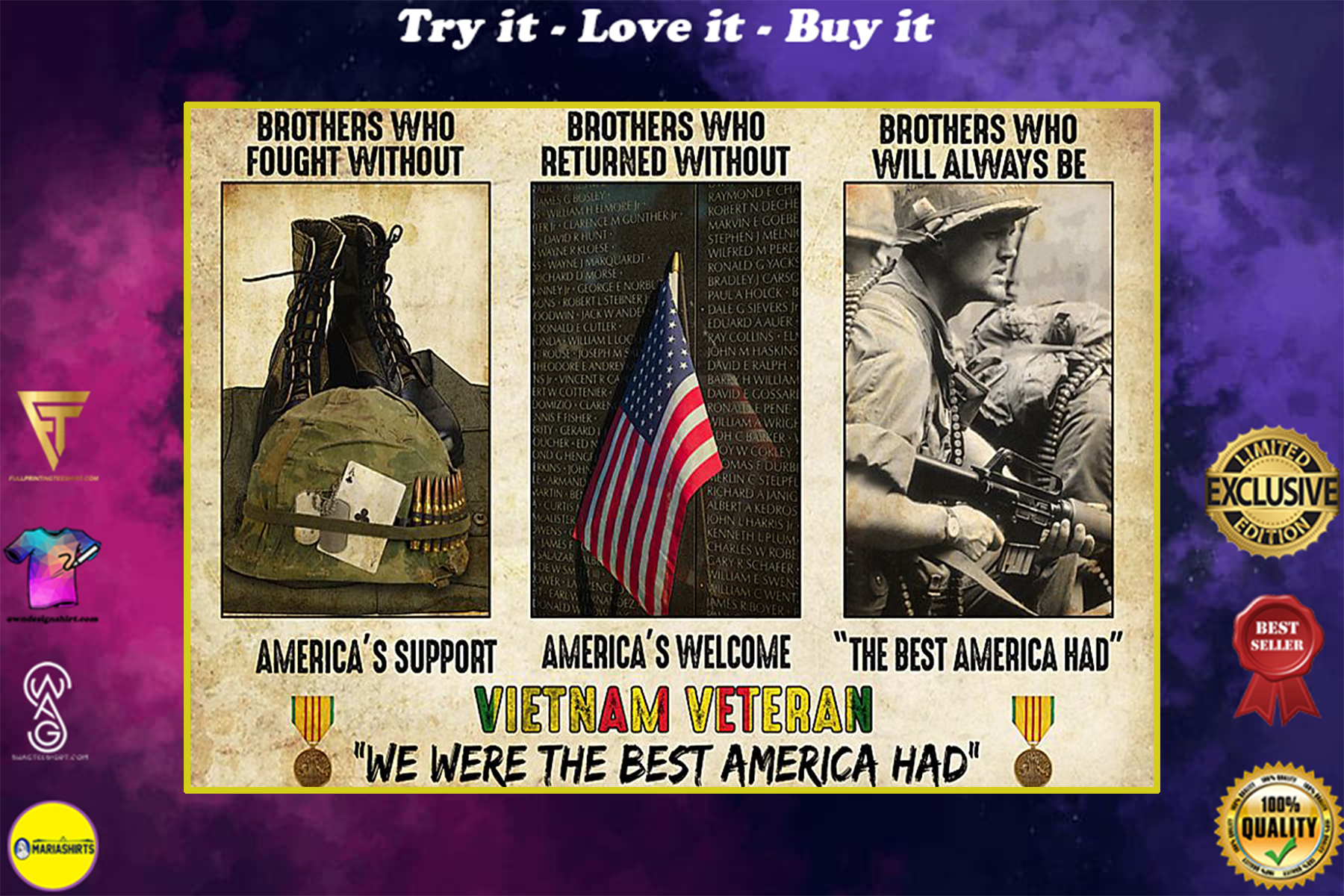vietnam veteran were the best america had brothers who fought without americas support poster