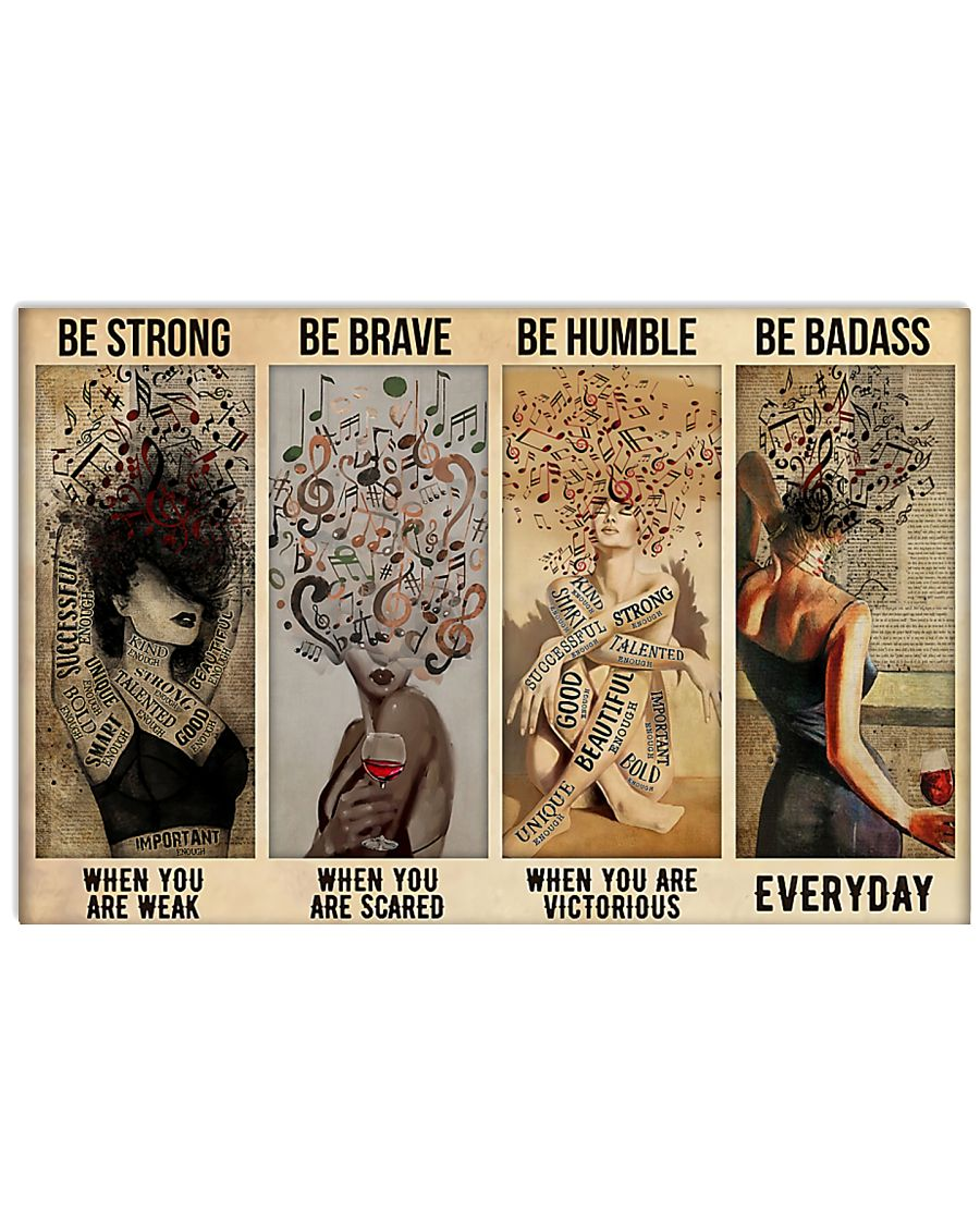 vintage music girl be strong when you are weak be brave when you are scared poster 1