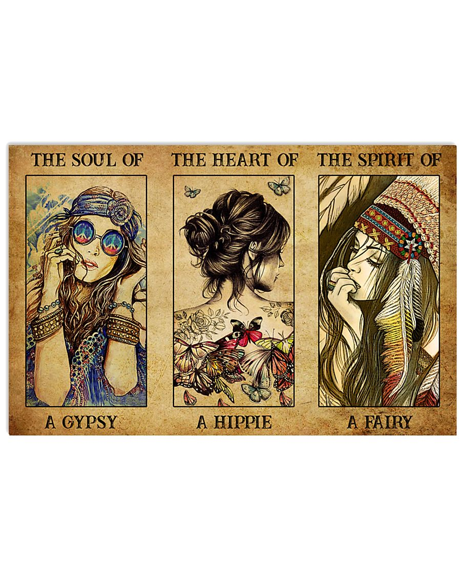 vintage the soul of a gypsy the heart of a hippie the spirit of a fairy poster 1
