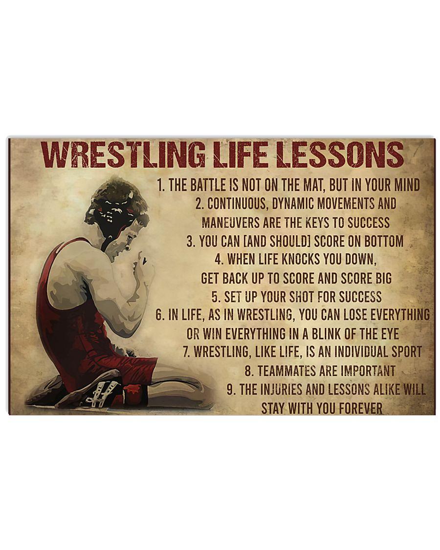 vintage wrestling life lessons poster 1