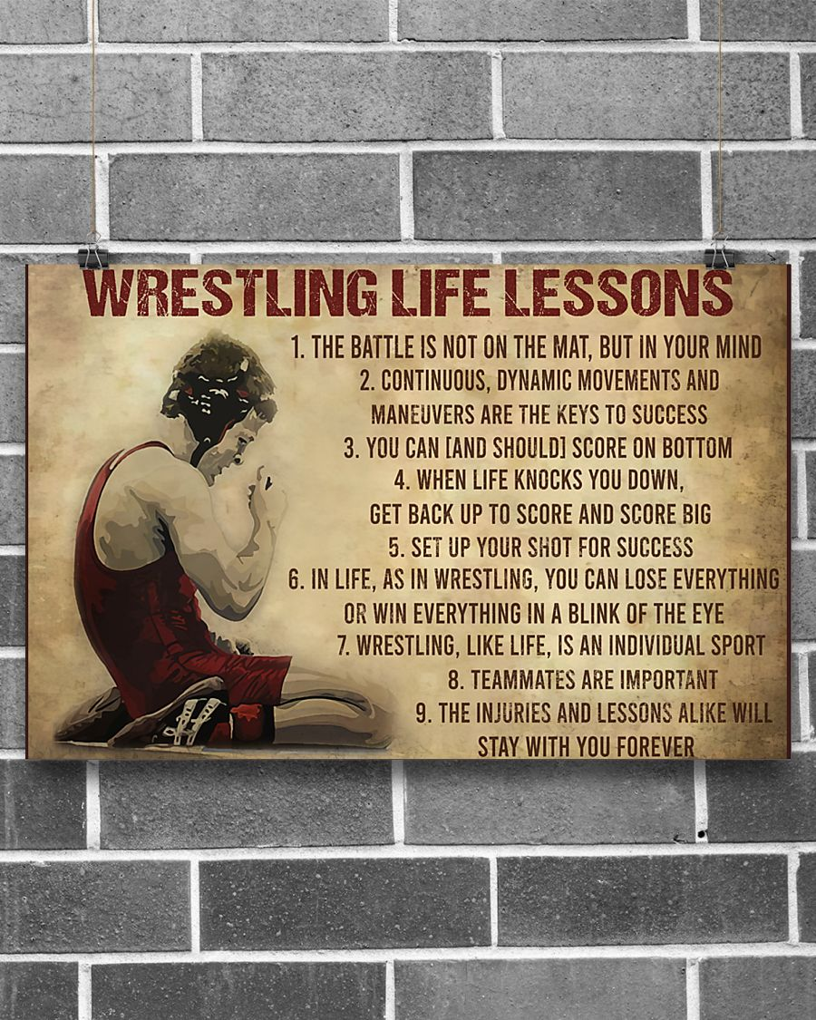 vintage wrestling life lessons poster 2