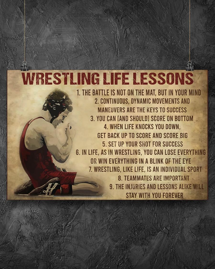 vintage wrestling life lessons poster 3