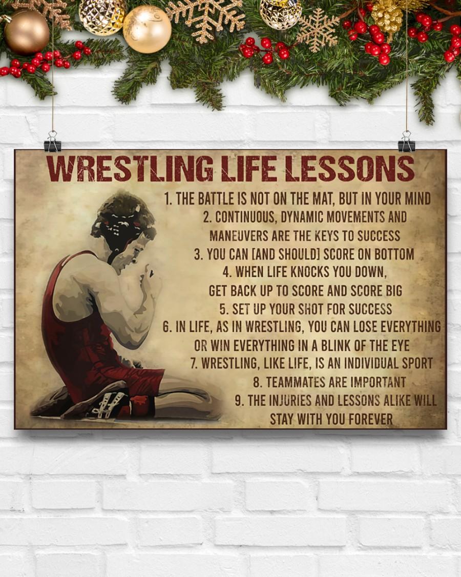vintage wrestling life lessons poster 4
