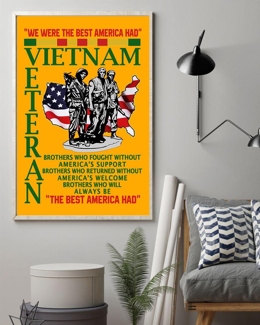 we were the best american had vietnam veteran poster 2
