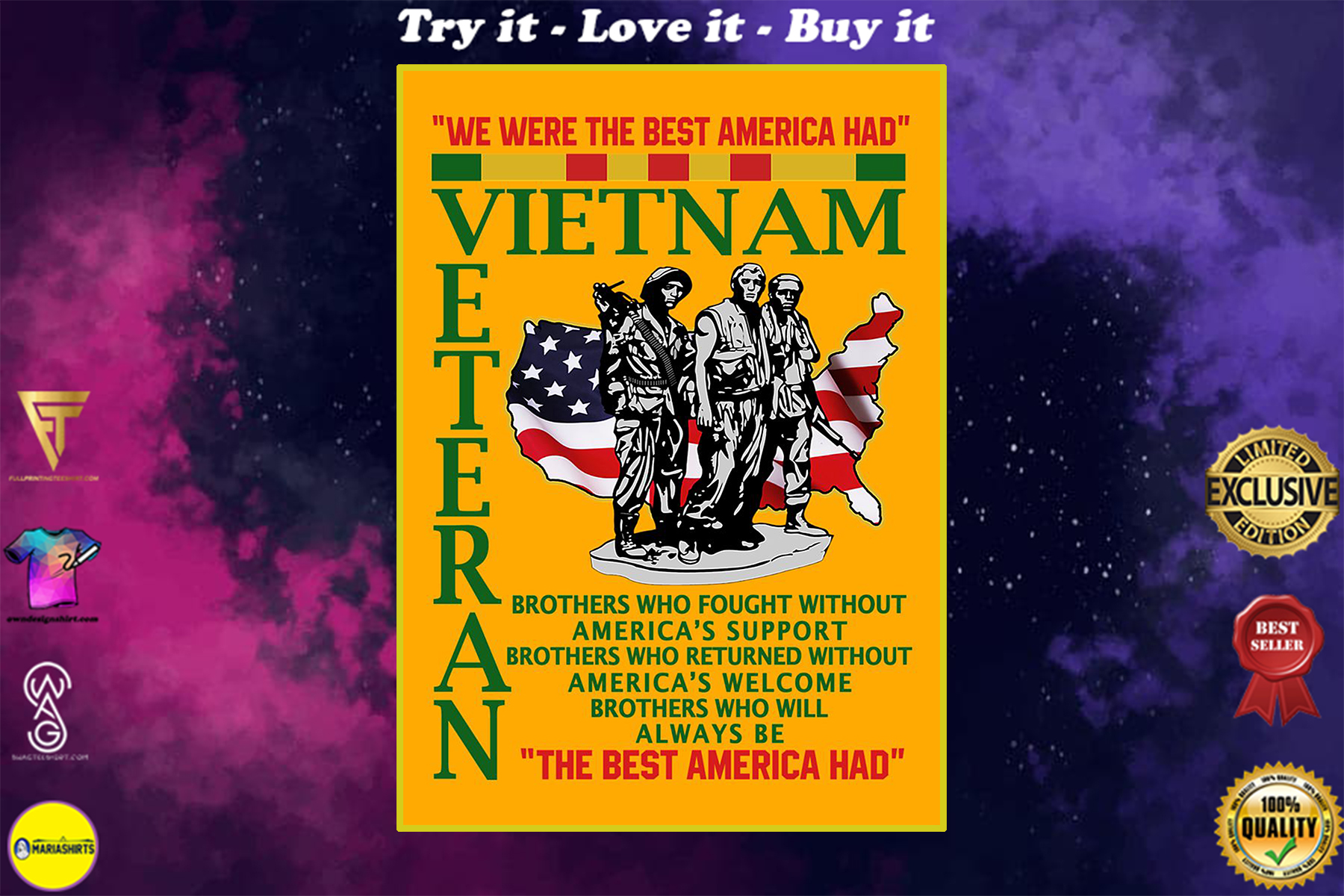 we were the best american had vietnam veteran poster
