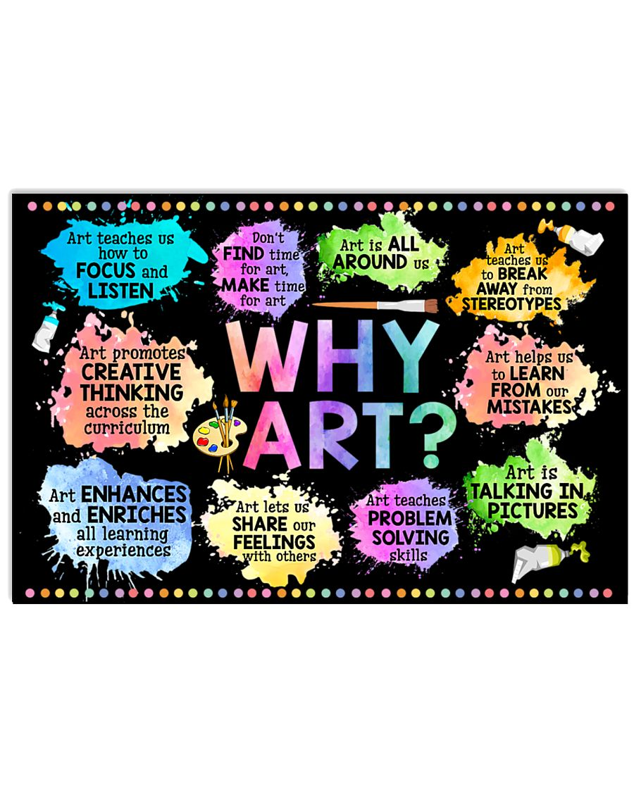 why art welcome to art classroom poster 1